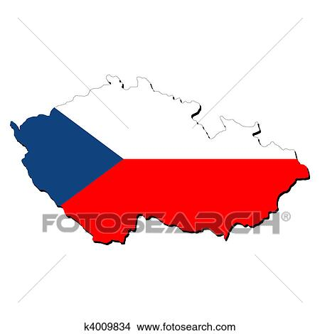 Drawings Of Czech Republic Map Flag K4009834 Search Clip Art