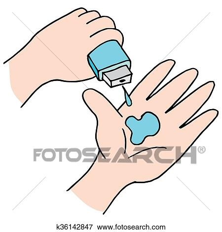 clip art of hand sanitizer k36142847 search clipart illustration