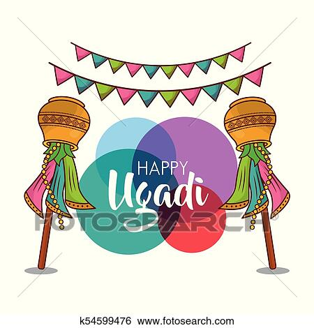 clip art happy ugadi new year celebration religious party fotosearch search clipart