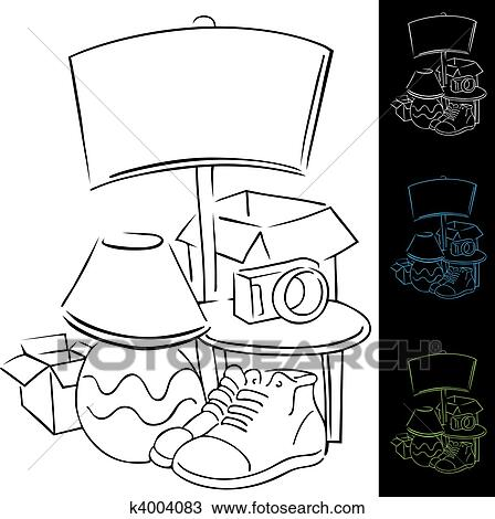 Clipart Of Yard Sale K4004083