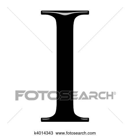 3D Greek Letter Iota Drawing