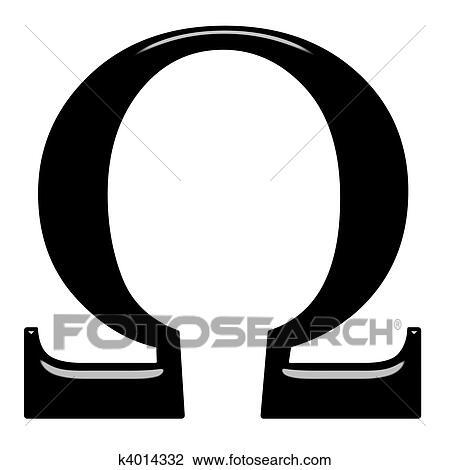 3D Greek Letter Omega Drawing