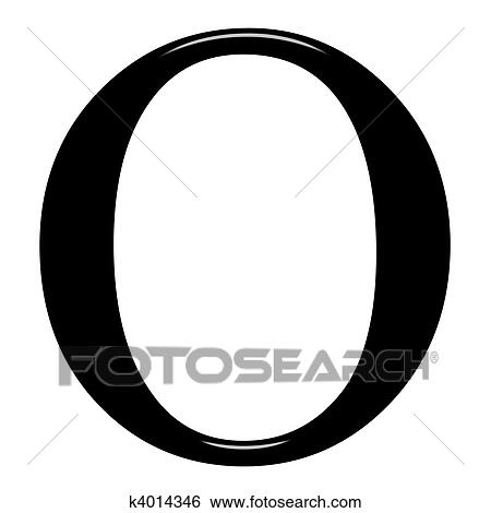 Stock Illustration - 3D Greek Letter Omikron. Fotosearch