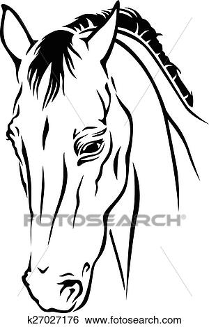 Bello cavallo muso clip art k27027176 fotosearch for Disegno cavallo stilizzato