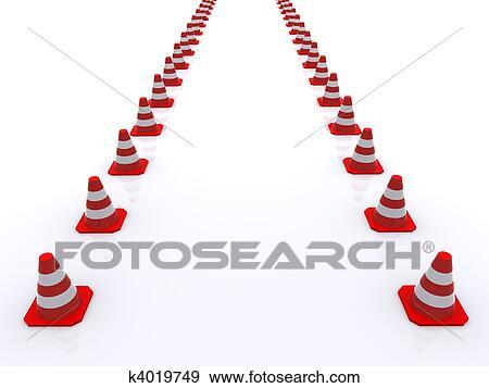 arquivos de ilustração cones tráfego k4019749 busca de clip art