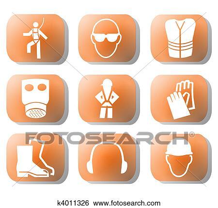 Stock Illustration Of Construction Safety Symbols K4011326 Search