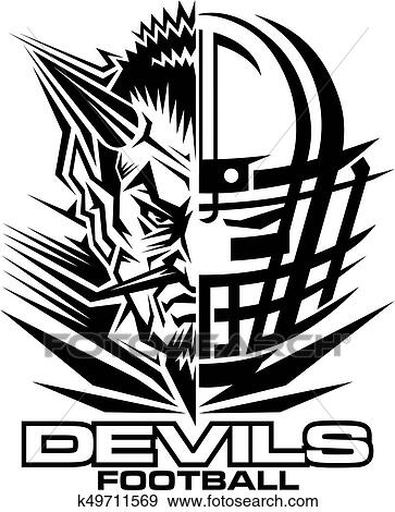 Clip Art Of Devils Football K49711569