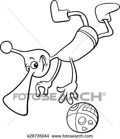 Clipart - extranjero, carácter, colorido, página k28735044 - Buscar ...