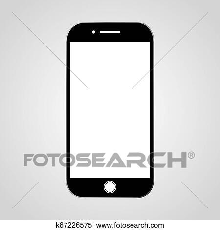 Handphone icon. Clipart | k67226575 | Fotosearch