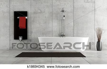 Minimalista, cuarto de baño Colección de ilustraciones | k18694345 ...