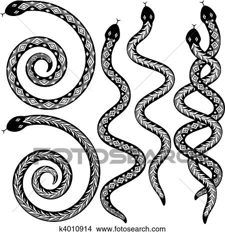 Snake Designs Clipart K4010914