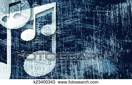 Clipart Of Transparent Music Symbol And Scratched Background