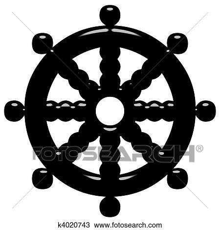 Berühmt Zeichnung - 3d, buddhismus, symbol, rad, von, dharma k4020743 #IO_71