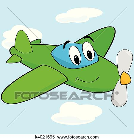 cartoon cute airplane clipart