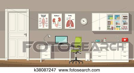 clip art of illustration of a doctor office k38087247 search