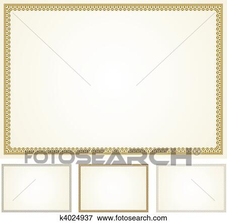 clip art of vector certificate frame set k4024937 search clipart