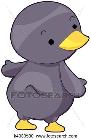 かわいい ペンギン クリップアート切り張りイラスト絵画集