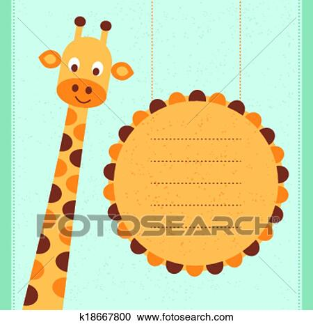 Clipart Of Baby Shower Card K18667800 Search Clip Art