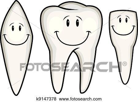 Clipart dent dessin anim collection k9147378 recherchez des cliparts des illustrations - Coloriage dent ...