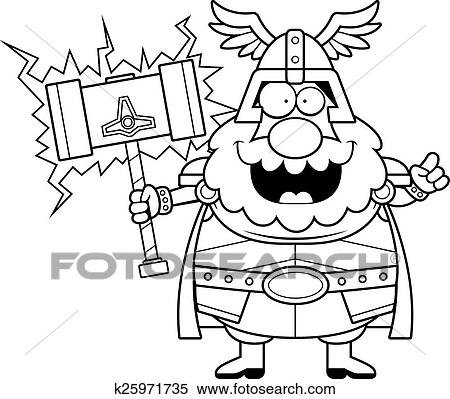 Dessin Anime Thor Idee Clipart K25971735 Fotosearch
