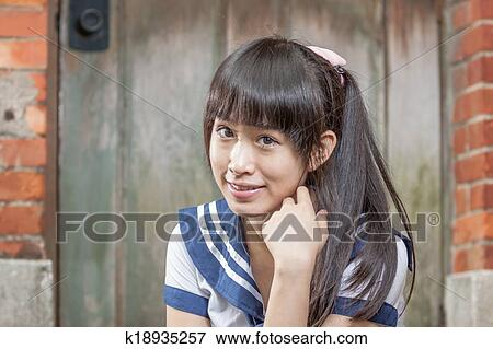 Asian Schoolgirl In Uniform
