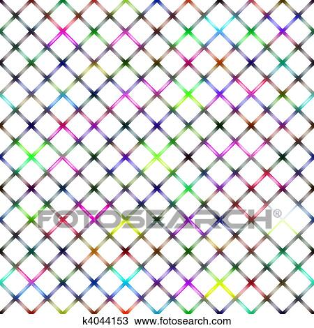 Drawing of colorful transparent wire netting k4044153 - Search ...