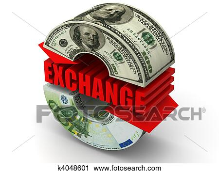 Clipart Currency Exchange Dollar Euro Fotosearch Search Clip Art Ilration