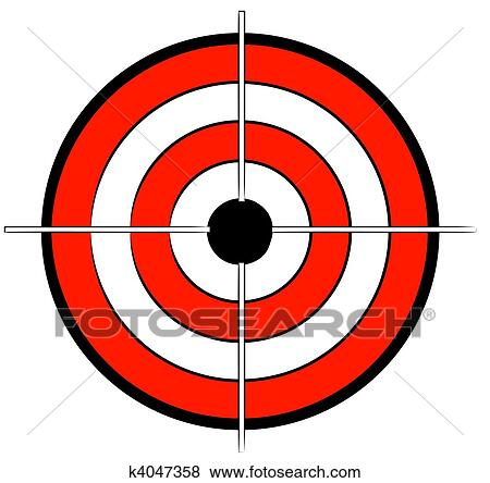 stock illustration of red white and black bullseye target k4047358 rh fotosearch com