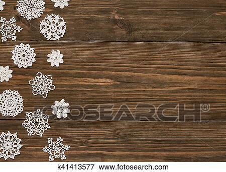 bild schneeflocken holz hintergrund weihnachten schneestern spitze deko schneeflocke. Black Bedroom Furniture Sets. Home Design Ideas