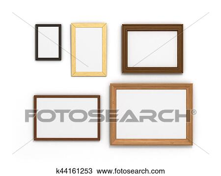 68f025740921 Stock Photo of set of colorful frames of different sizes on a white ...
