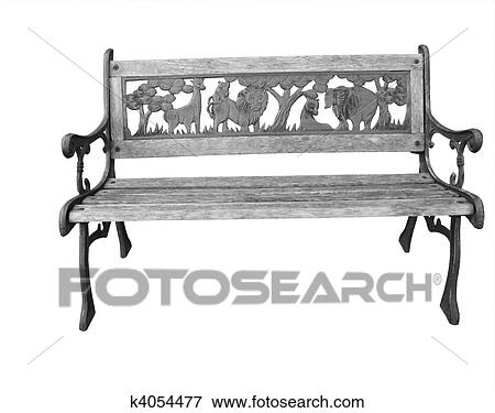 Magnificent Childs Outside Bench Seat Stock Photo K4054477 Fotosearch Andrewgaddart Wooden Chair Designs For Living Room Andrewgaddartcom