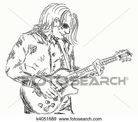 Stock Illustration Of Guitar Player K4051689