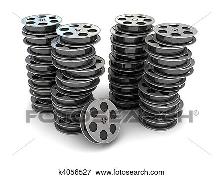 Stock Illustration Of Movie Film Reel K4056527 Search Eps Clipart