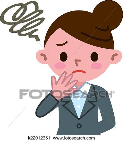 clipart of puzzled businesswoman k22012351 search clip art rh fotosearch com businesswoman clipart black and white business woman clipart images