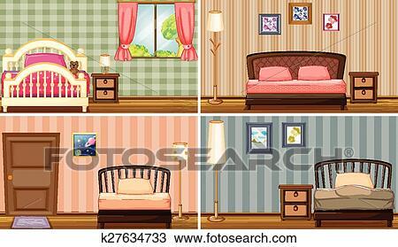 Clipart Schlafzimmer K27634733 Suche Clip Art Illustration
