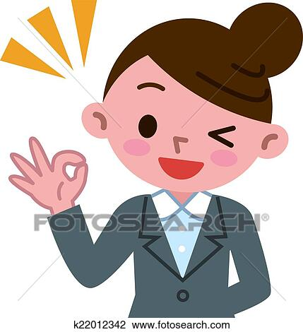 clipart of business woman of the ok sign k22012342 search clip art rh fotosearch com ok clipart images ok clipart png