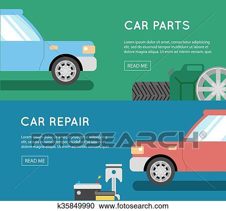 Car Parts Vector Set Car Service Vector Icon Set Car Parts Shop