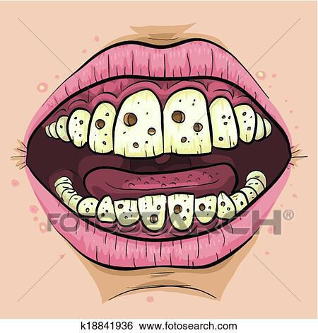 Clip Art - caricatura, cavidades k18841936 - Buscar Clip Art ...