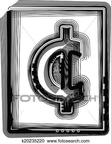 Clipart Of Cent Striped Symbol K20235220 Search Clip Art