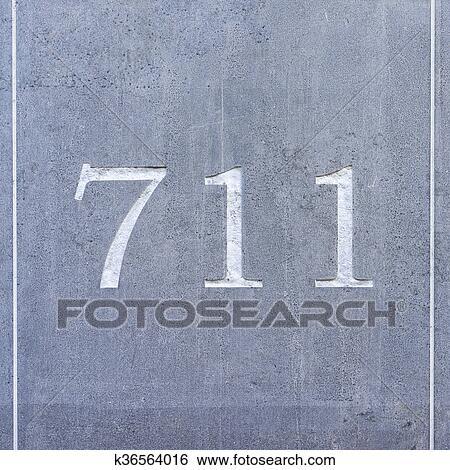 Stock Afbeeldingen Getal 711 K36564016 Zoek Stockfotografie