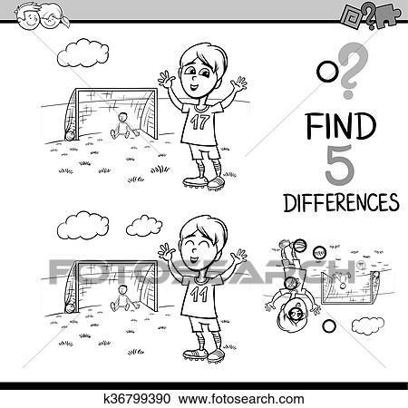 Clipart - preescolar, actividad, libro colorear k36799390 - Buscar ...