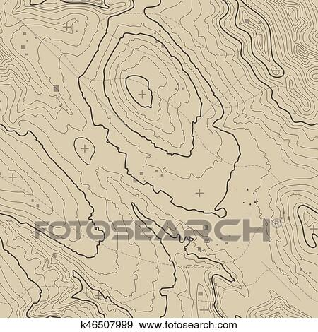 Topographic Map Mountain.Stock Illustration Of Topographic Map Background Concept With Space