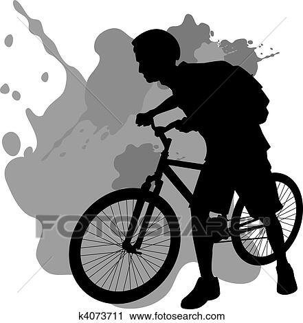 clipart adolescente andar bicicleta k4073711 busca de
