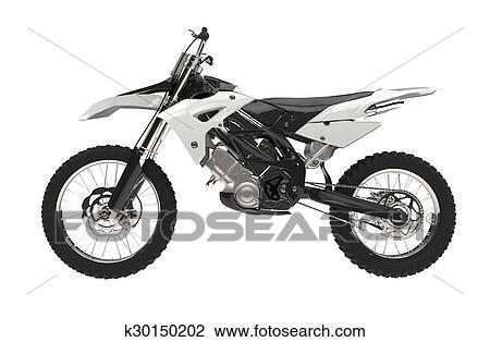 Bianco Motocross Bicicletta Disegno