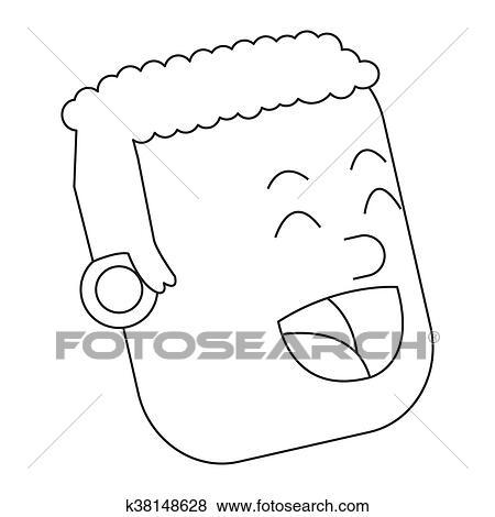 Rosto De Feliz Homem Icone Clipart K38148628 Fotosearch