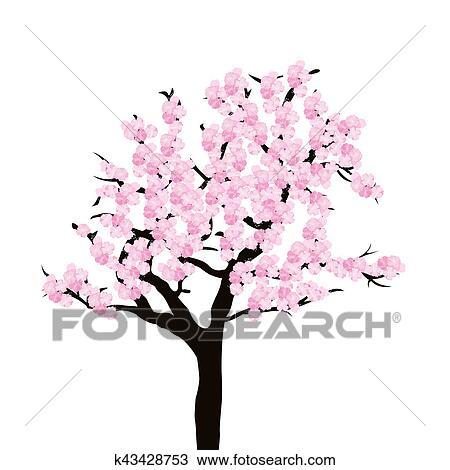 Dessin cerisier k43428753 recherchez des cliparts des - Cerisier dessin ...