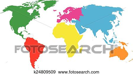 Clip art of colourful continents world map k24809509 search clip art colourful continents world map fotosearch search clipart illustration posters gumiabroncs Choice Image
