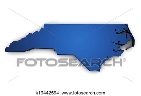 Drawings of Map Of North Carolina State 3d Shape k19442594 - Search ...