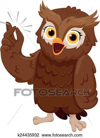 owl finger snap clipart k24435932 fotosearch https www fotosearch com csp409 k24435932