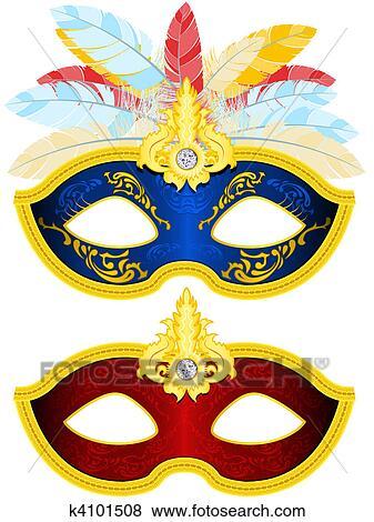 仮面舞踏会の マスク イラスト K4101508 Fotosearch